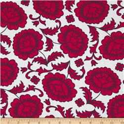 Kanvas Catalina Rose White/Red Fabric