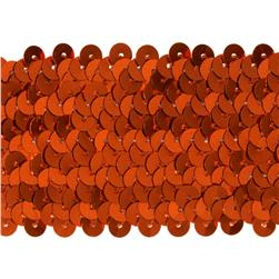 "1-3/4''"" Metallic Stretch Sequin Trim Orange"