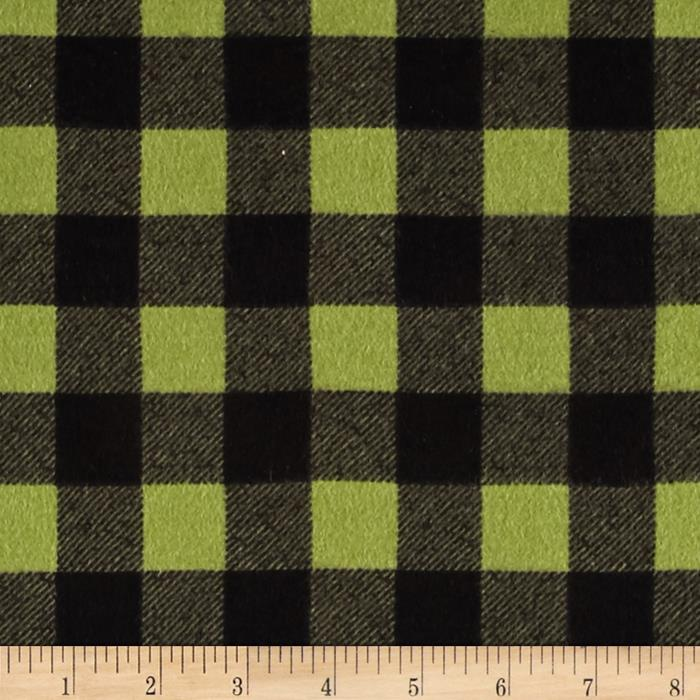 Elk Mountain Flannel Plaid Olive