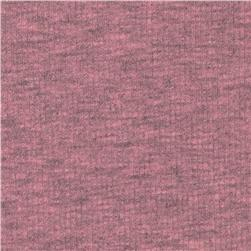 Basic Cotton Blend Rib Knit Heather Mauve