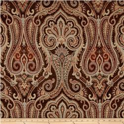 Waverly Clubroom Paisley Chenille Jacquard Masala