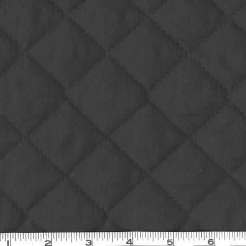 Double-Sided Quilted Broadcloth Black