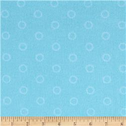 Mystic Forest Flannel Stitched Circles Blue