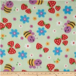 Polar Fleece Prints Strawberry Patch Mint