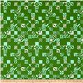 Cotton + Steel Clover Dance Floor Shamrock