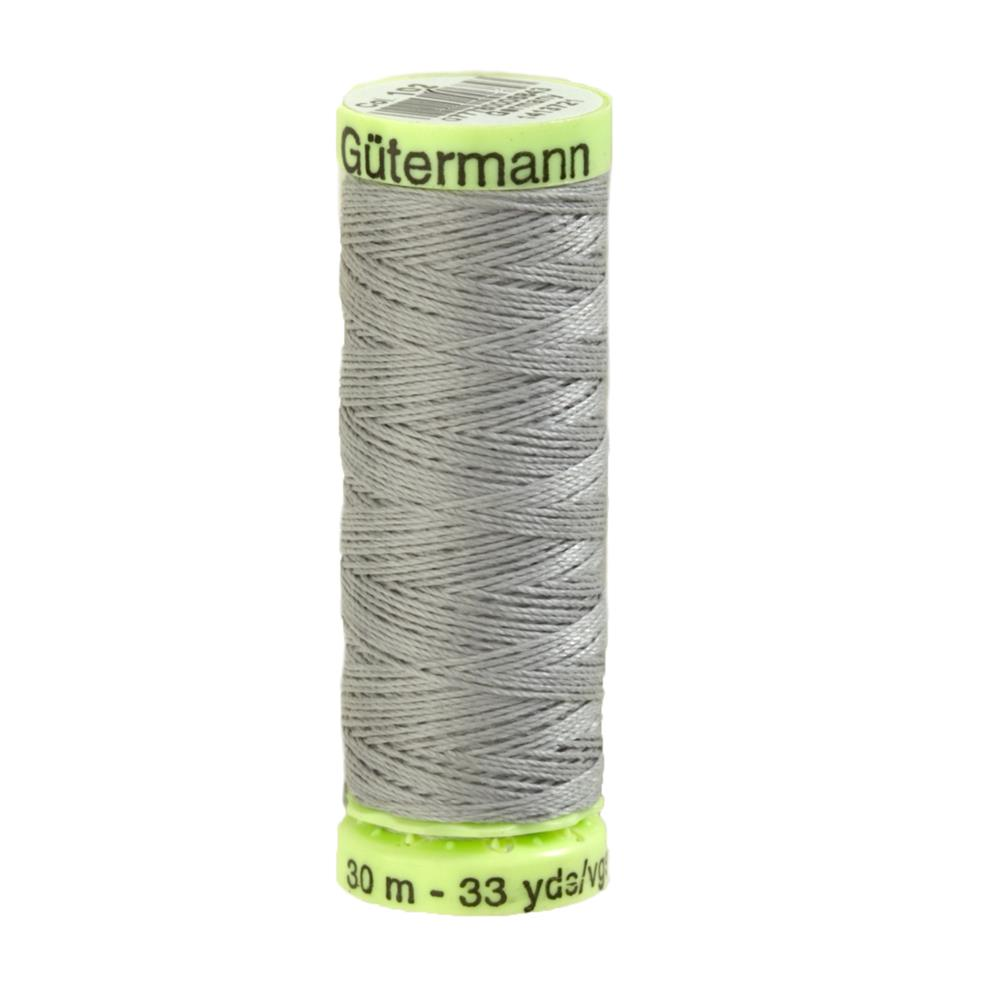 Gutermann Heavy Duty Polyester Topstitching Thread 30m/33yds Mist Grey