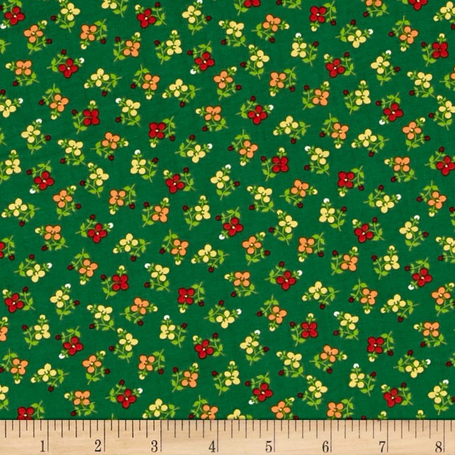 El Camino Real Spring Flowers Green/Multi