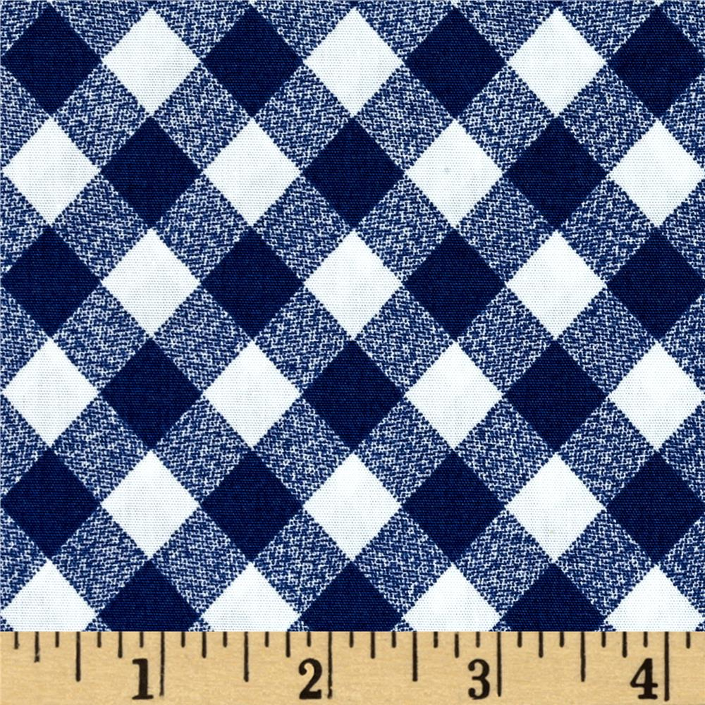 "Moda 108"" Wide Quilt Backing Check Navy"