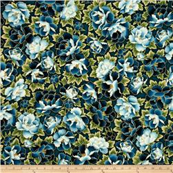 Kaufman Imperial Collection Metallic Flower Vintage