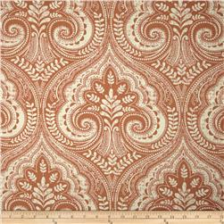 Tempo Damask Coral Fabric