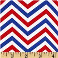 Patriotic Chevron Blue