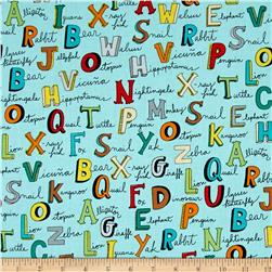 Animal ABC's Alphabet Words Turquoise