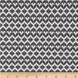 Alchemy Metallic Diamond Geo Black/Silver Fabric
