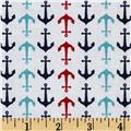 Riley Blake Holiday Anchors White