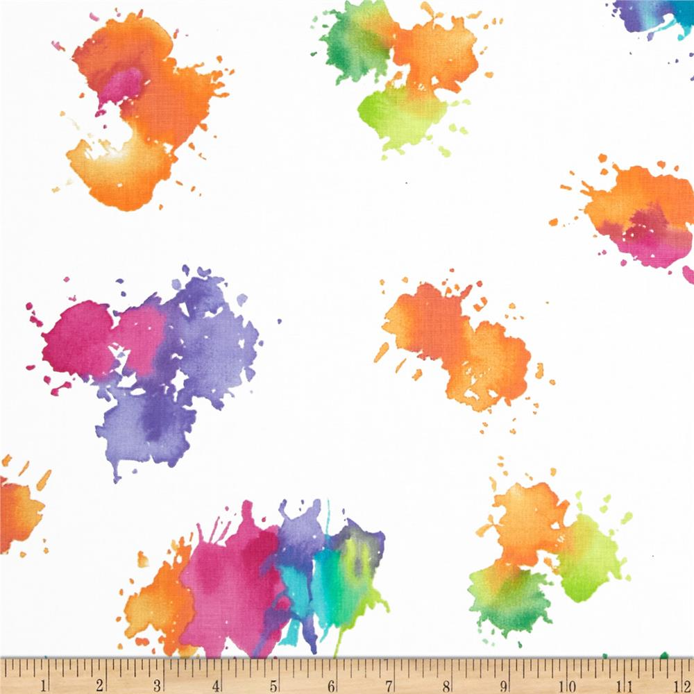 Michael Miller Painterly Color Drops Spring - Discount