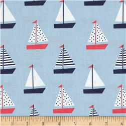Dear Stella Sea Worthy Sailboats Blue