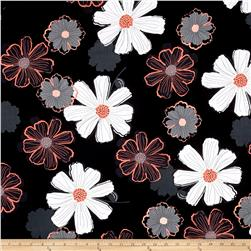 Mod About You Large Floral Black/Coral