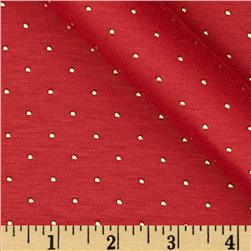 Jewel Jersey Knit Red Fabric