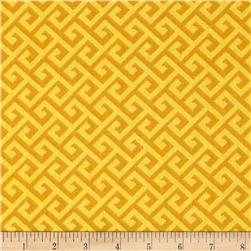 Greek Key Tonal Golden Yellow