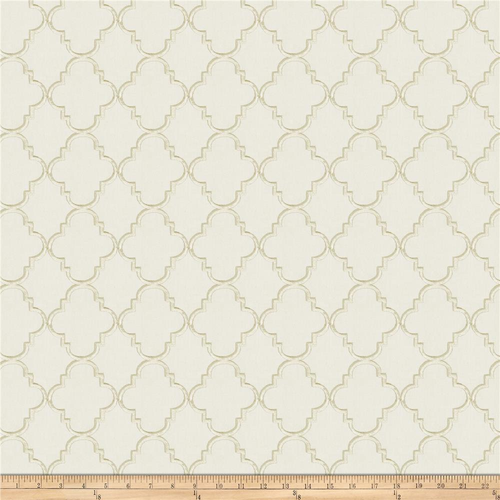 Fabricut Strahl Embroidered Faux Linen Cloud