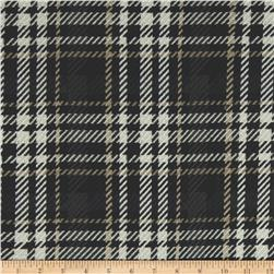 P Kaufmann Eureka Houndstooth Woven Upholstery Graphite