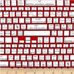 Kanvas Back Talk Keyboard Red