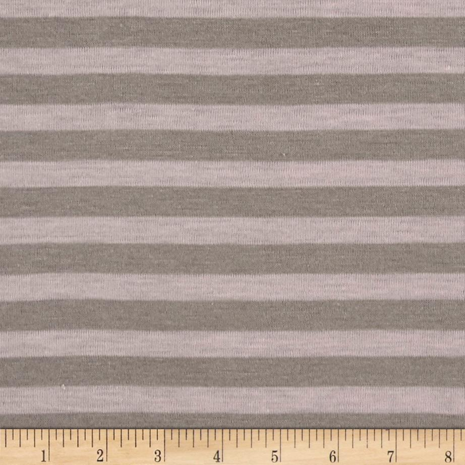 Jersey Knit Stripe Taupe/Pink