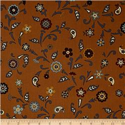 Bombay Large Flower Brown