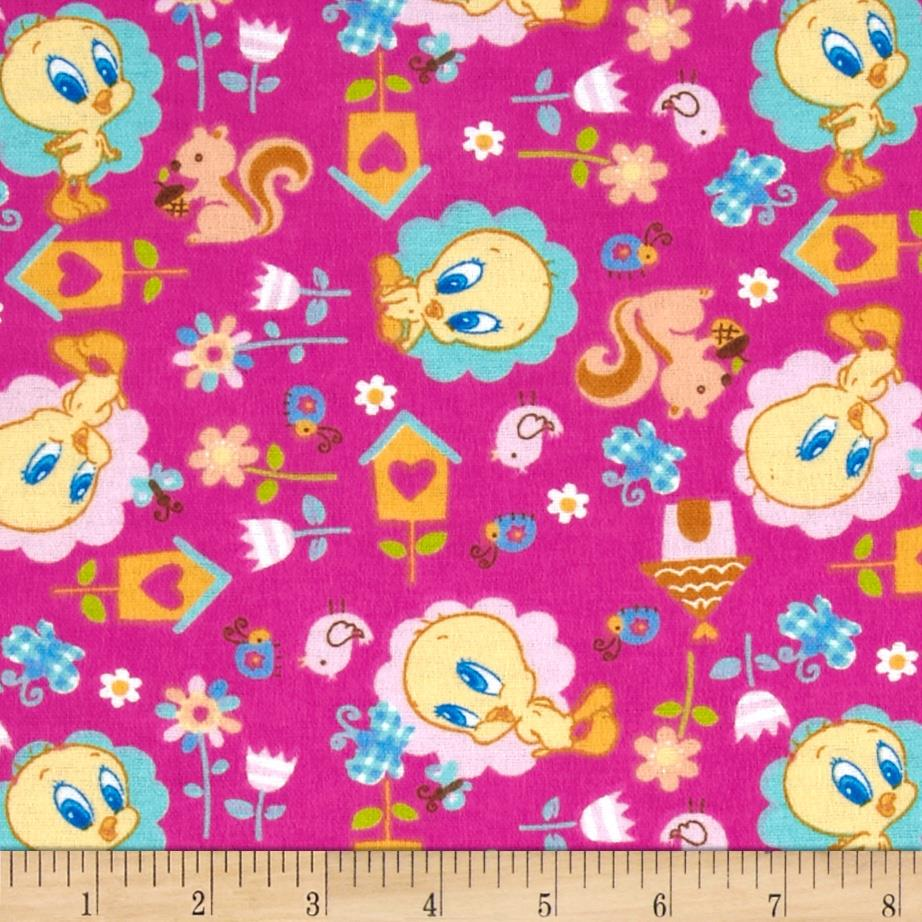 Baby Tweety Flannel Nature Lover Pink