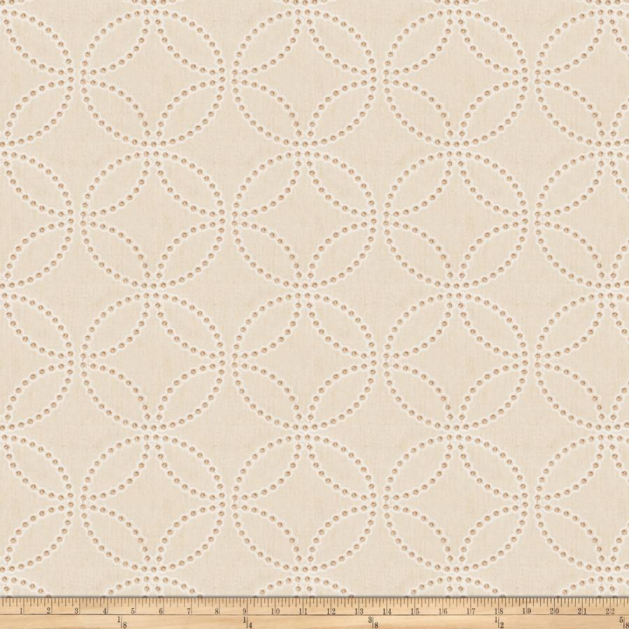 Fabricut Embroidered Twill Reconciliation Natural