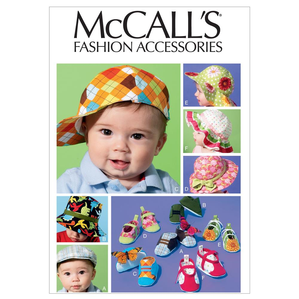 McCall's Infants' Hats and Soft Shoes Pattern M6575