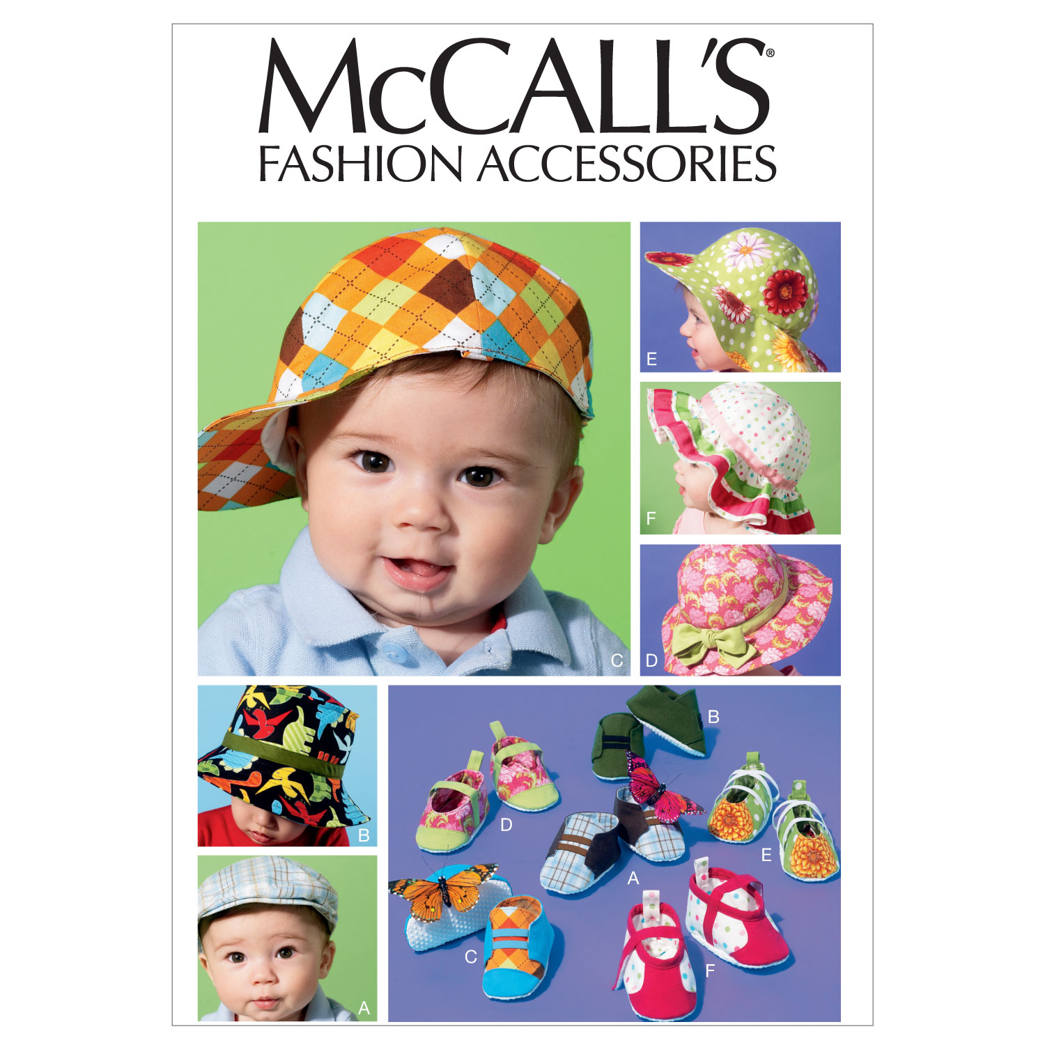 Image of McCall's Infants' Hats and Soft Shoes Pattern M6575 Size OSZ