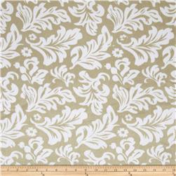 Minky Tossed Leaves Taupe/White Fabric