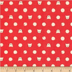 Cotton & Steel Cat Lady Friskers Coral