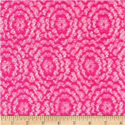 Argentella Stretch Lace Pink Fabric