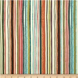 Interlude Pencil Stripe Coral/Rose