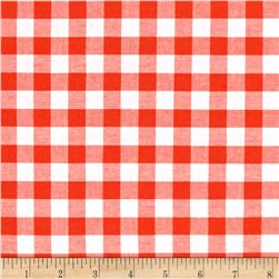 "Cotton + Steel Checkers Yarn Dyed Woven 1/2"" Coral"