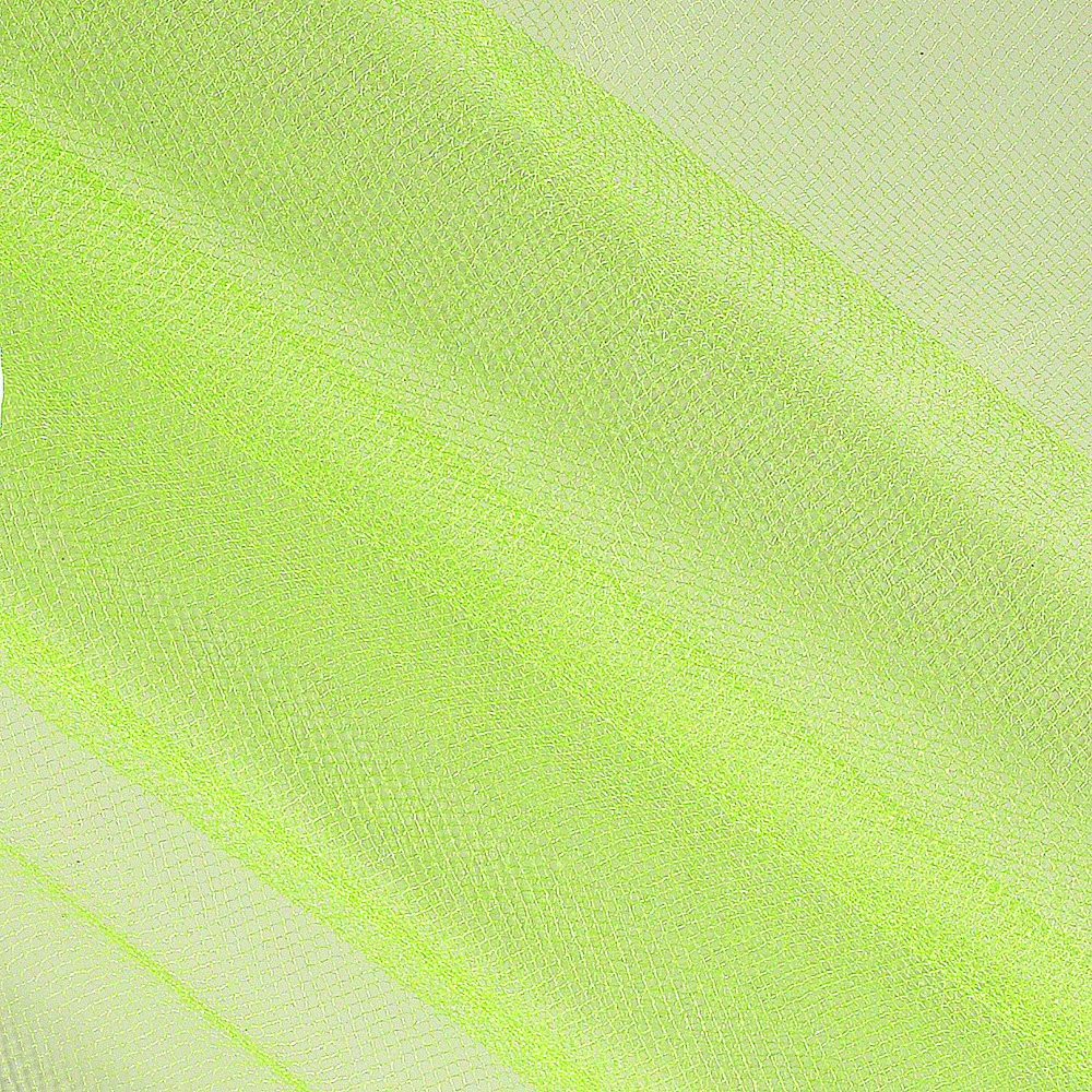 54'' Wide Shiny Tulle Lime Fabric