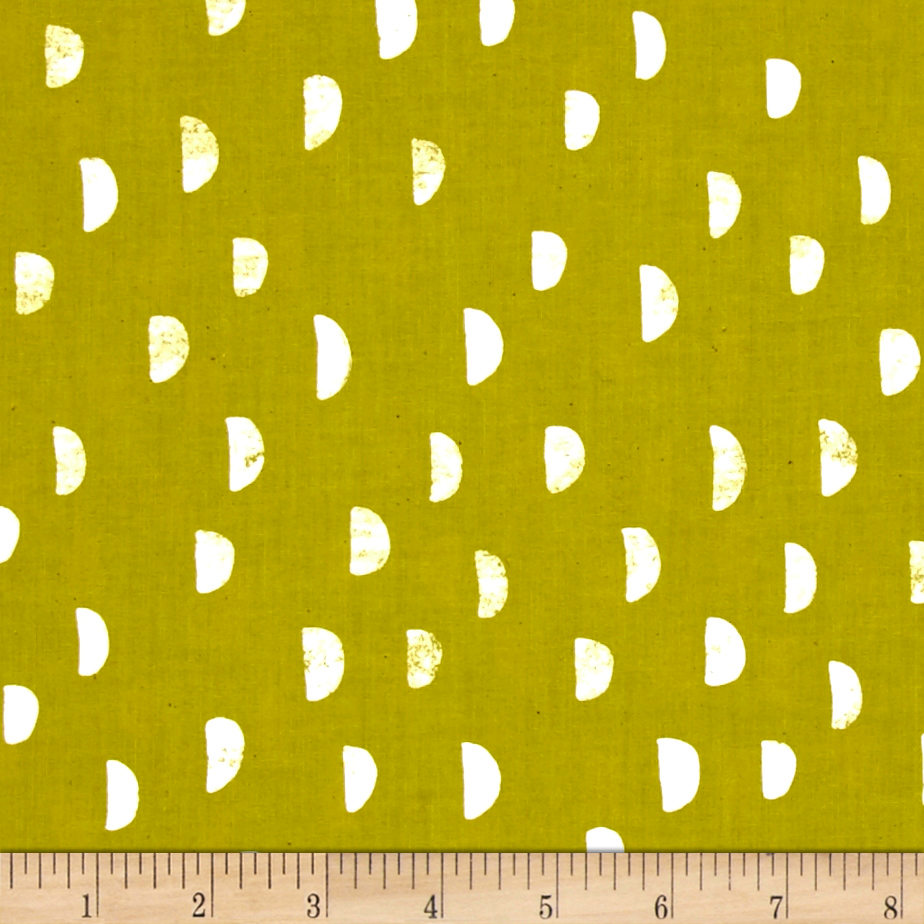 Image of Cotton + Steel Printshop Moons Grass Fabric