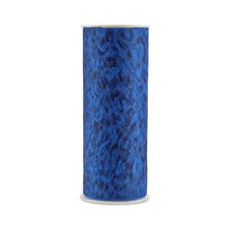 Tulle Spool Leopard Royal Blue/Black