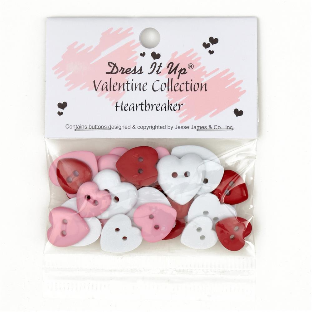 Dress It Up Embellishment Buttons  Heartbreaker