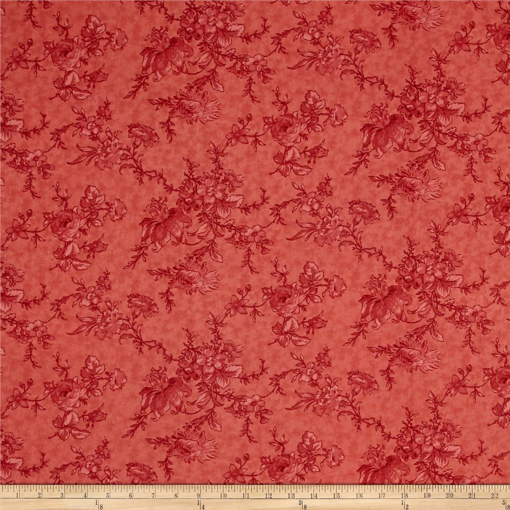 Moda Poetry 108'' Back Romantic Blooms Rose Fabric