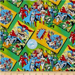 DC Comics Comic Book Covers Green Fabric