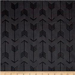 Minky Cuddle Embossed Arrow Black