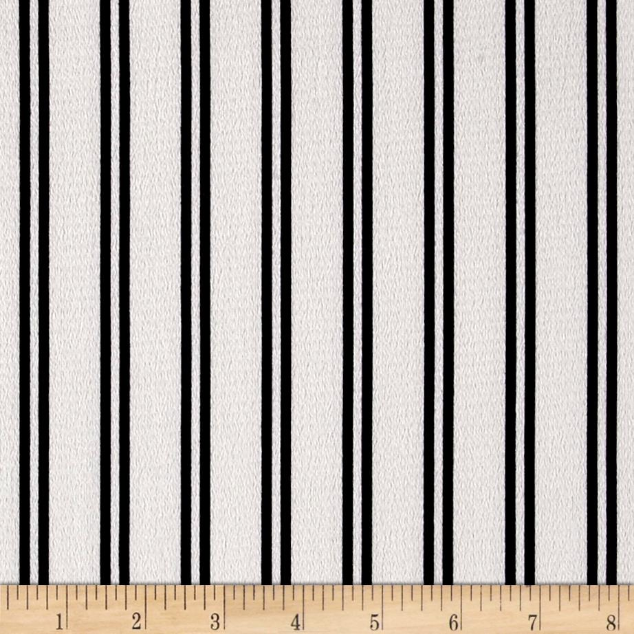 Bubble Crepe Double Stripe White/Black