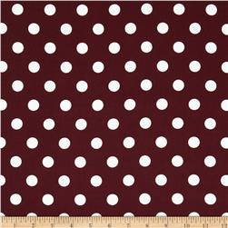 Moda Dottie Medium Dots Burgundy