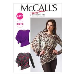 McCall's Misses' Tops Pattern M6797 Size 0Y0