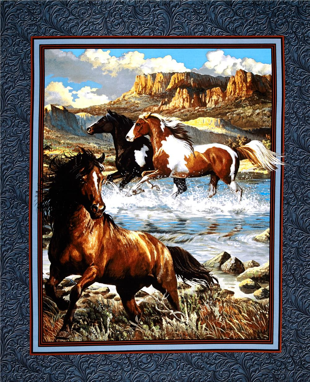 "Wild Wings Rhapsody West Wall Hanging 36"" Panel Multi"