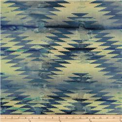 Indian Batik Chevron Indigo/Purple