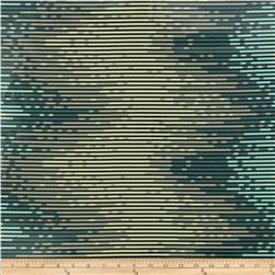 Salt Water Sea Stripes Laminated Cotton Aqua